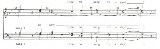 'How We Sang Today', by Vicki J Uhr: bars 32-36