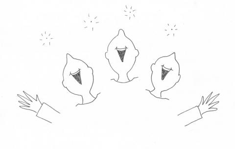 singing group cartoon