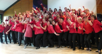 The women's chorus in the final concert