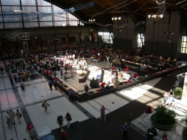 Bird's-eye view of the Harmony Marketplace in the Pennsylvania Convention Center